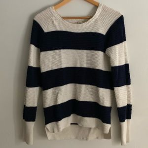 Sweaters - very dark navy blue and white striped sweater